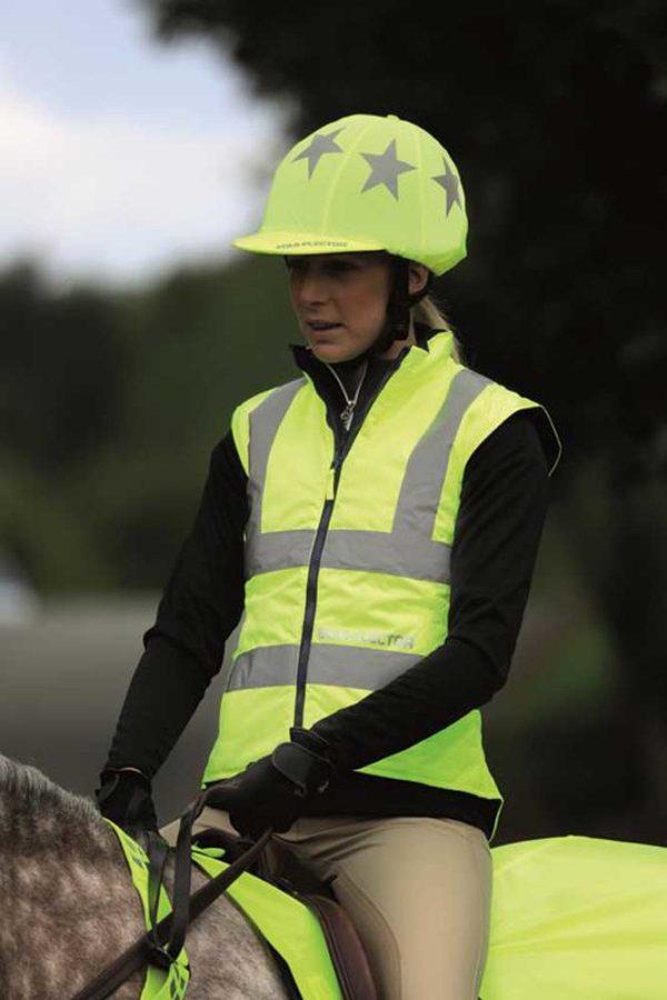 Equi-Flector Ladies Riding Waistcoat - 7000 equi flector waistcoat yellow