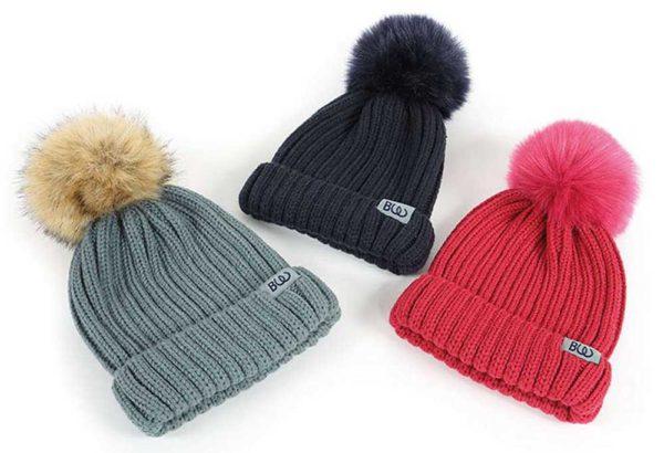 Cherry Pom Pom Hat