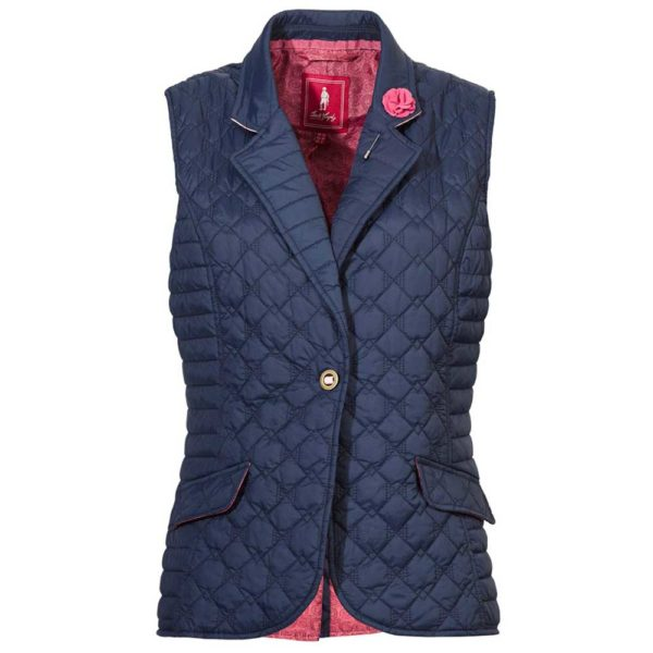 Jack Murphy Esme Quilted Gilet Navy