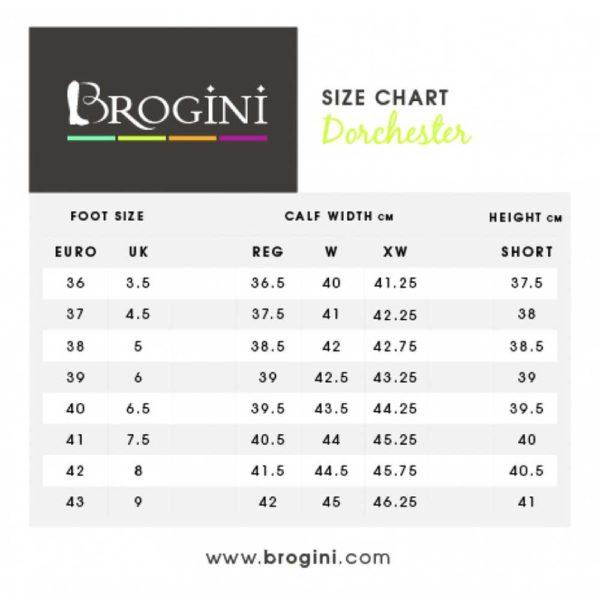 Brogini Dorchester Size Chart