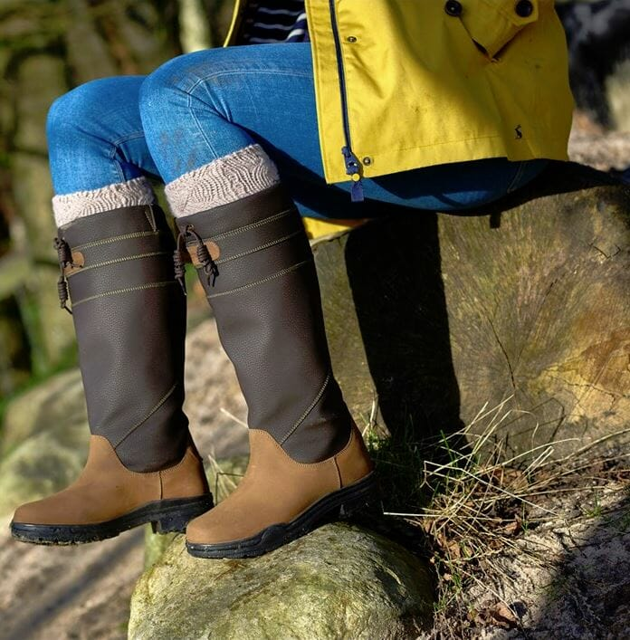 Rider Stable Yard Wear Brogini Derbyshire Country Boot Wide Calf Waterproof