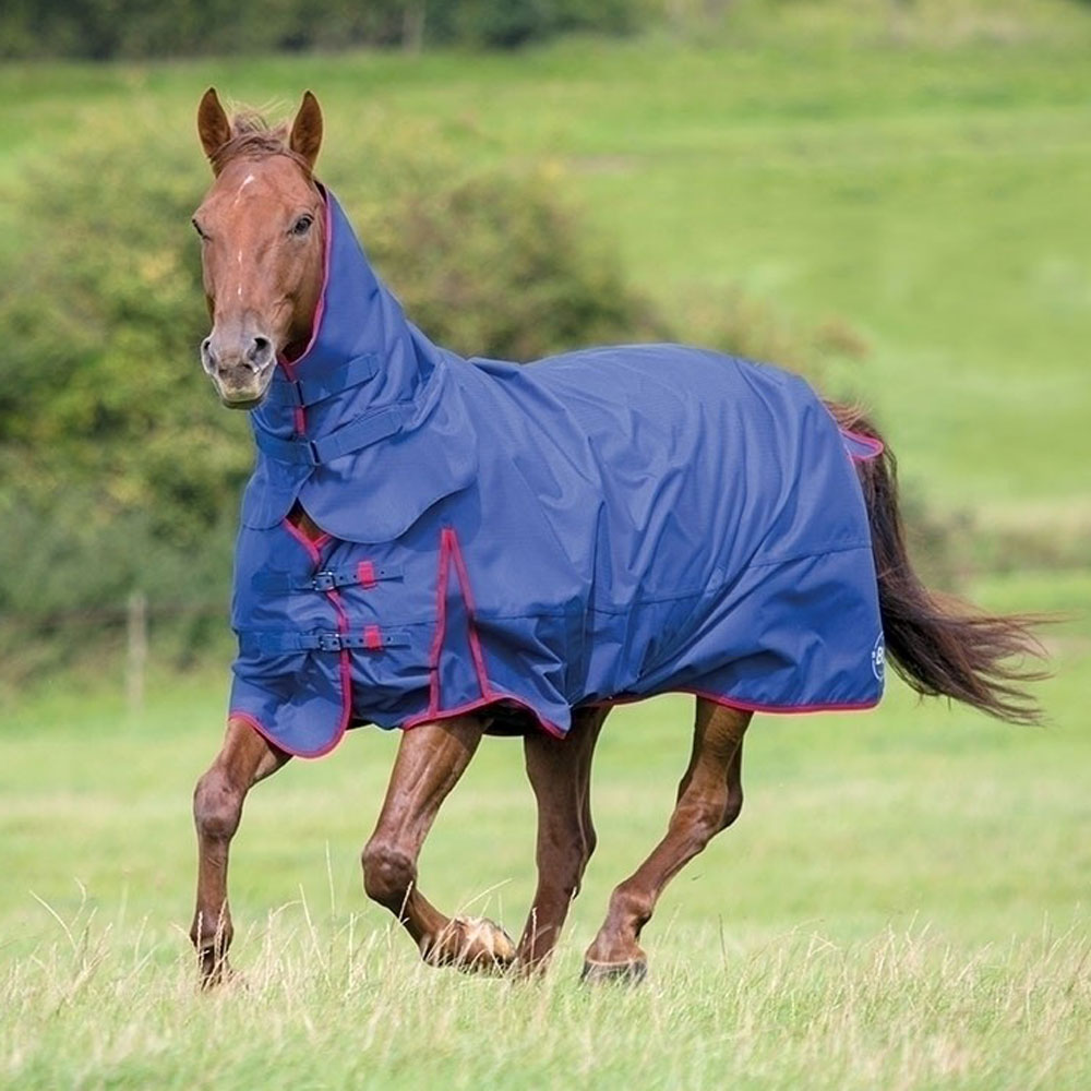 Combo Turnout Rug - Navy/Red