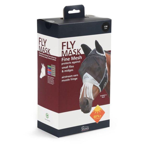 Fine Mesh Fly Mask With Nose Fringe - 6664 1 1