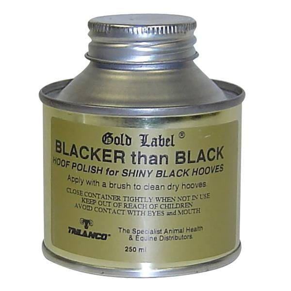 Gold Label Blacker Than Black Hoof Polish 250ml - gold label blacker than black hoof polish 250ml