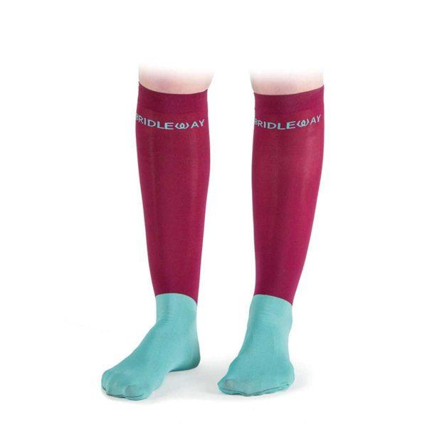 Bridleway Dynamic Sleek Socks V745 - V745 MAROON