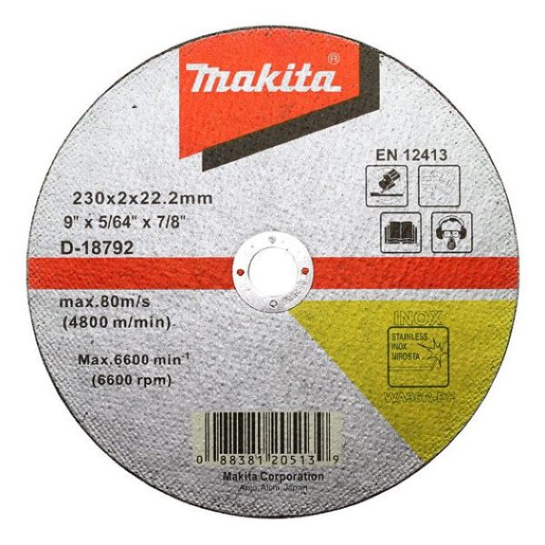 Makita D-18792 Thin Slitting Disk for S.Steel 230mm - makita d 18792 thin slitting disk for ssteel 230mm
