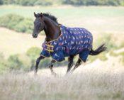 Shires Highlander Original Lite Turnout Rug - Stags - shires highlander original lite turnout rug stags 1