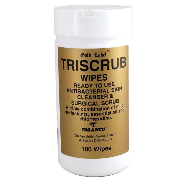 Triscrub Antibacterial Wipes 100 Pack - QJOVY02K92 GLD1335