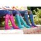 Bridleway Daydreamer Mulite 3 Pack Socks: Navy-Pink-Green - bridleway daydreamer mulite 3 pack socks navy pink green