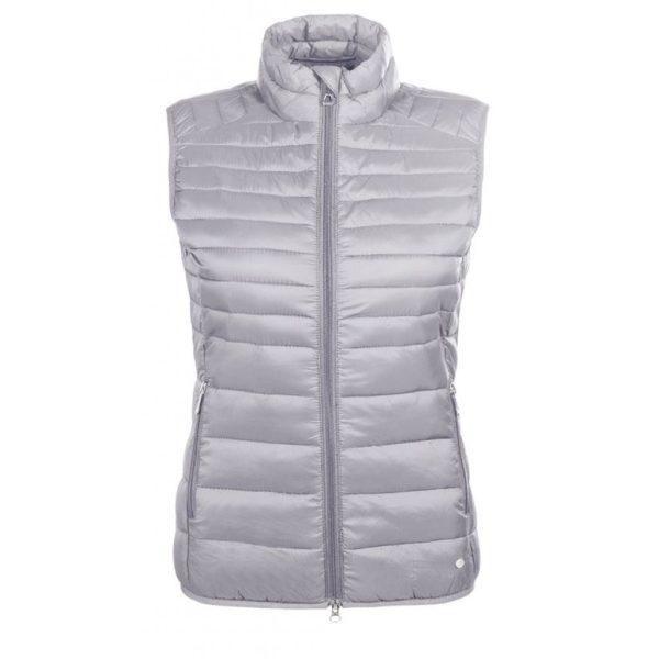 HKM Lena Quilted Vest - lena quilted vest stonegrey
