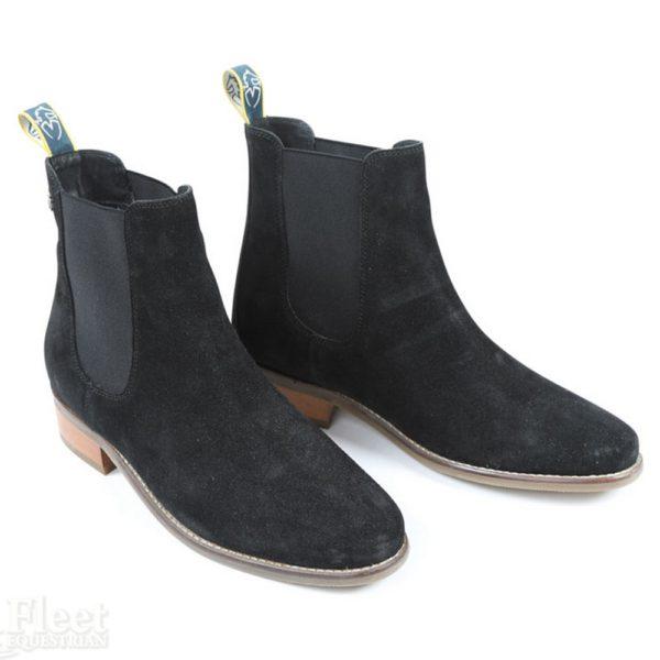 Moretta Rosalie Heeled Chelsea Boots - 8222 BLACK 1