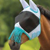 Bug Stoppa Fly Mask with Fringe - bug stoppa fly mask with fringe