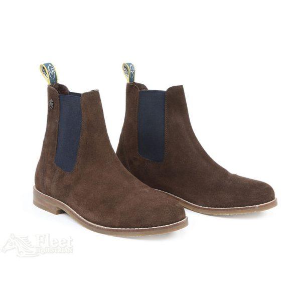 Moretta Antonia Suede Chelsea Boots - moretta antonia suede chelsea boots