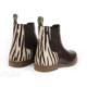 Moretta Zebra Leather Chelsea Boots - moretta zebra leather chelsea boots