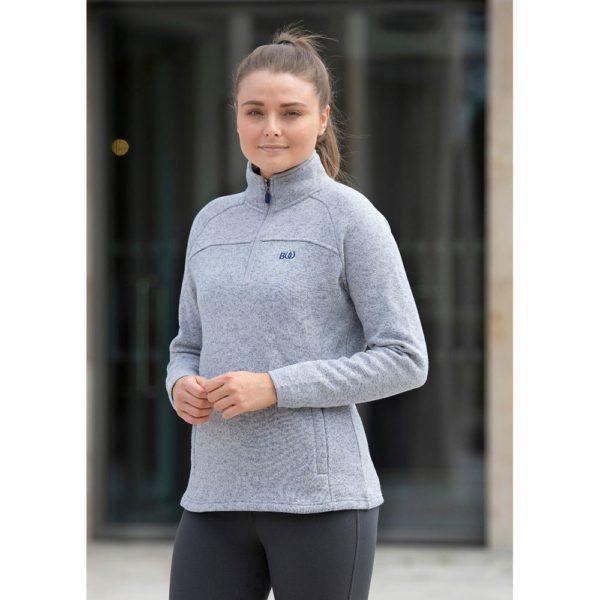 Bridleway Sarah Half Zip Fleece - v823 grey