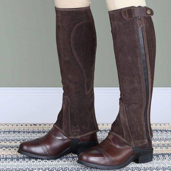 Moretta Suede Half Chaps - Adult - 9721c brown 3 1 1 1