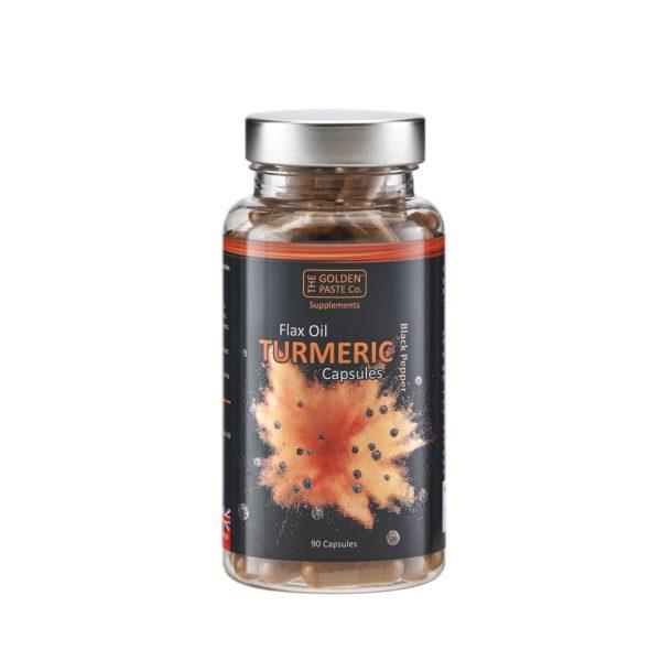 Turmeric with Black Pepper & Flax Oil - turmeric with black pepper flax oil