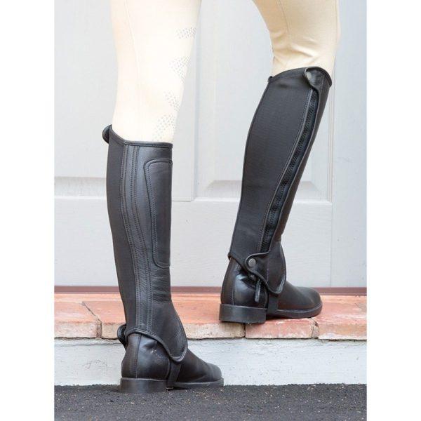 Bridleway Leather Half Chaps - v454 black 6 1