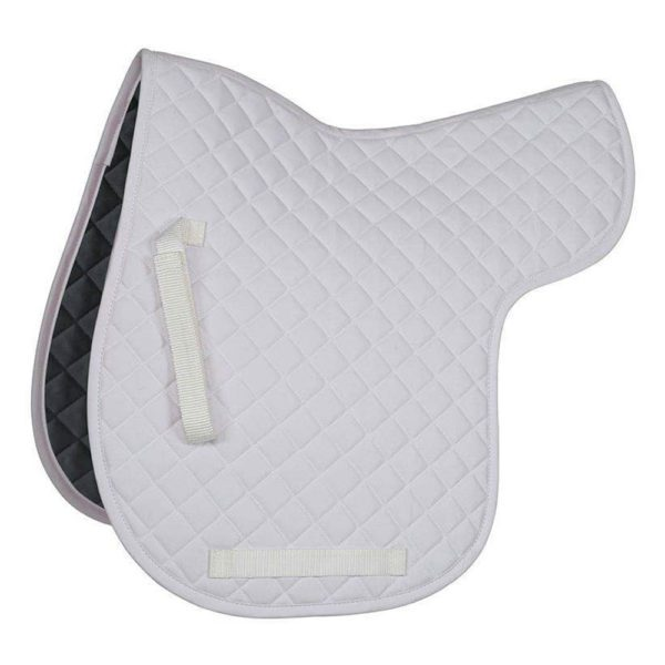 Bridleway Quick Dry Quilted Numnah - v567 4 1 1 1 white
