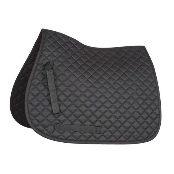 Bridleway Quick Dry Quilted Saddlecloth - v568 2 1 1 1 black