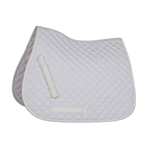 Bridleway Quick Dry Quilted Saddlecloth - v568 4 1 1 1 white
