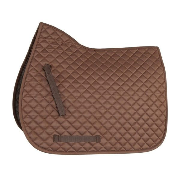 Bridleway Quick Dry Quilted Saddlecloth - v568 4 3 brown