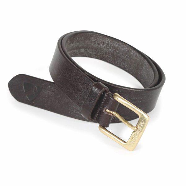 Aubrion 25mm Skinny Leather Belt - Adult - 9878 brown