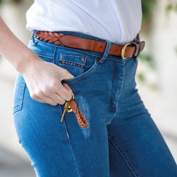 Aubrion Plaited Leather Belt - 9882 2 1