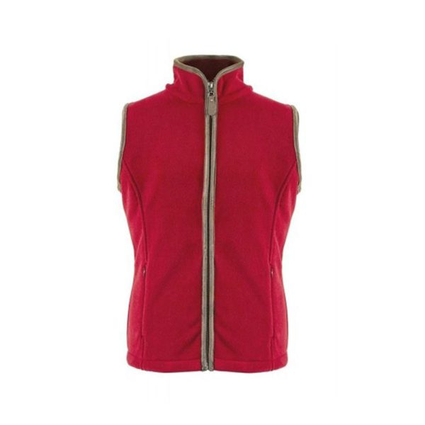 Bridleway Keswick Gilet - Ladies - v609 red bridleway ladies keswick fleece