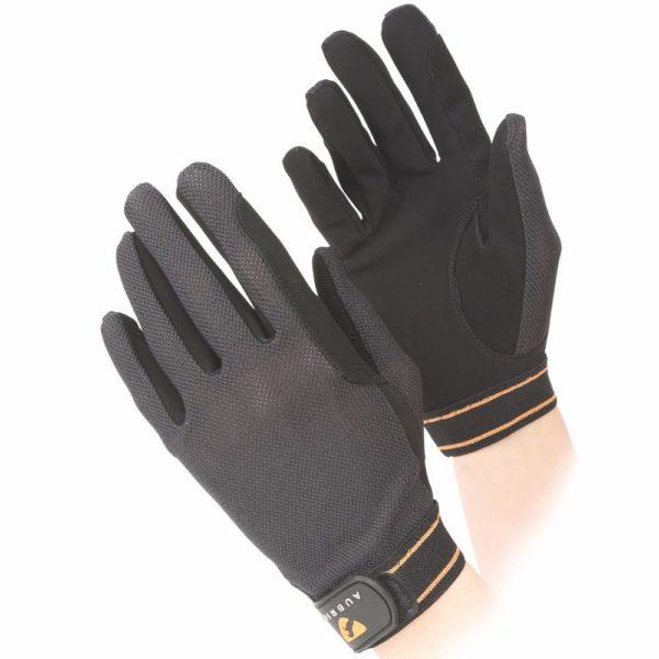 Aubrion Mesh Riding Gloves Black