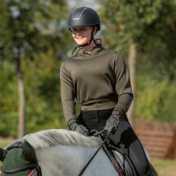 HKM Survival Sweatshirt - AG3Q380HBH hkm survival sweatshirt green lifestyle front rider 12404