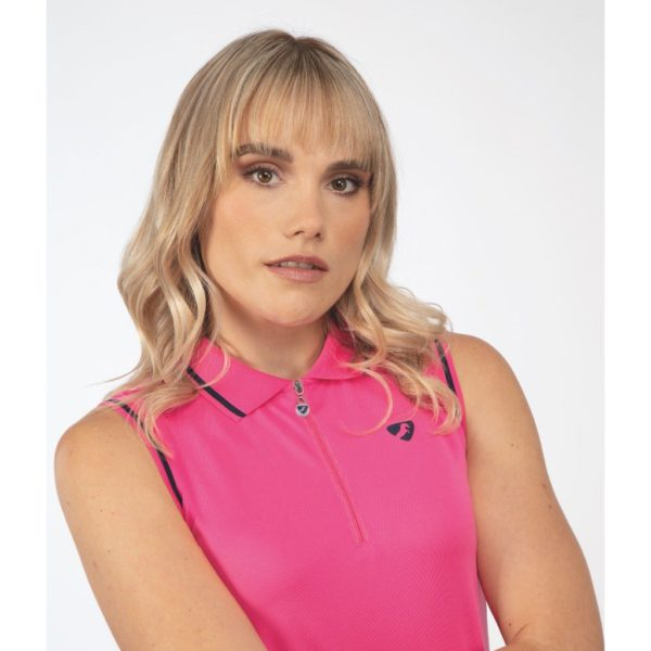 Aubrion Harrow Sleeveless Polo - Ladies - 8246 pink 2