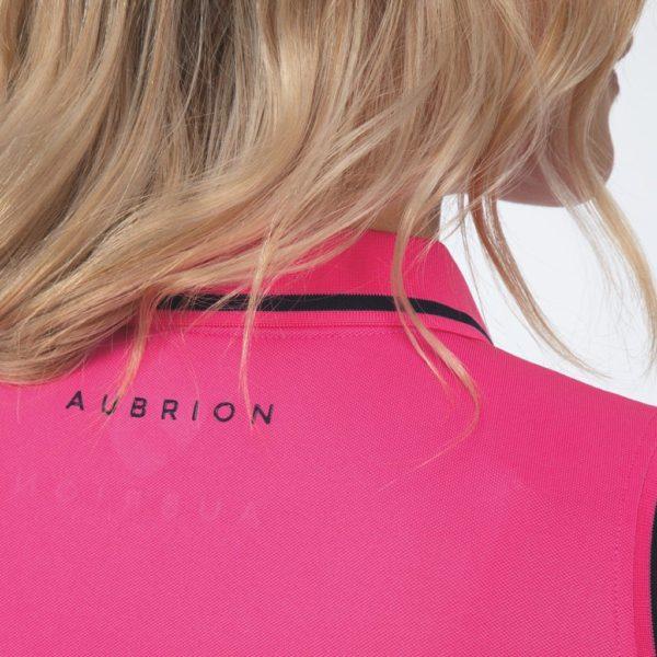 Aubrion Harrow Sleeveless Polo - Ladies - 8246 pink 3