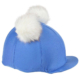 Double Pom Pom Hat Cover Blue