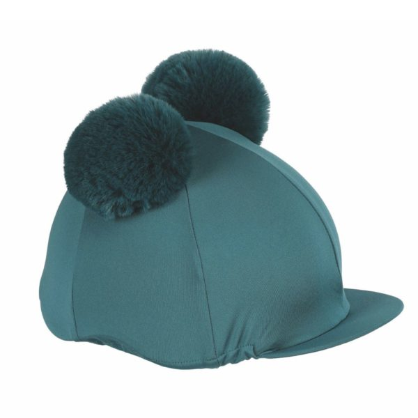 Double Pom Pom Hat Cover Green