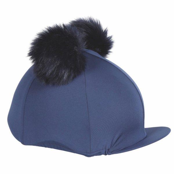 Double Pom Pom Hat Cover Navy