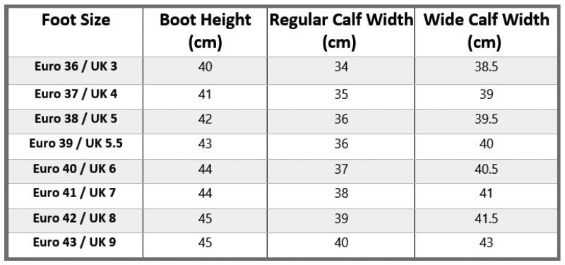 Toggi Calgary Pro Size Guide