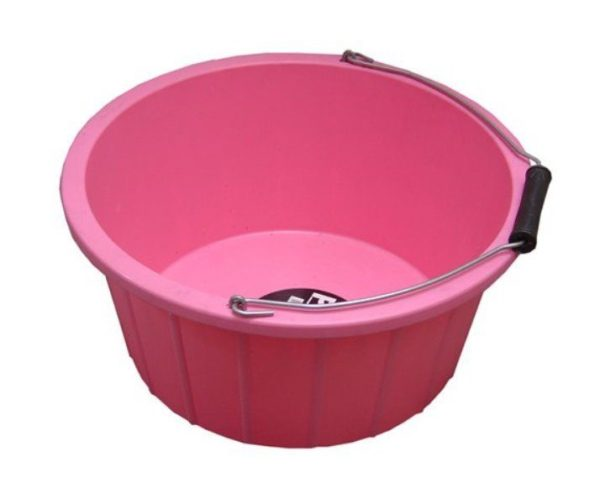 ProStable Feed Bucket Pink . 3 Gallons
