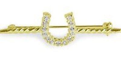 Shires Diamante Horseshoe Stock Pin
