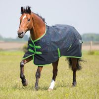 Bridleway Ontario Lightweight Turnout Rug Horseshoe Print