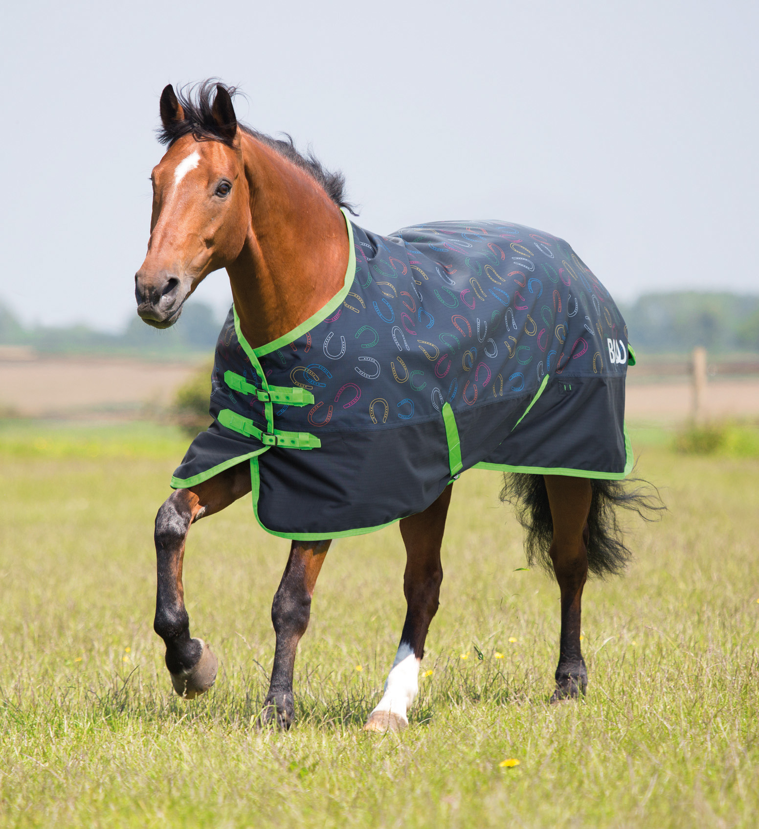 Lightweight Turnout Rug with Horseshoe