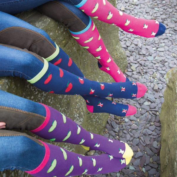 Bridleway Ladies Apple Socks