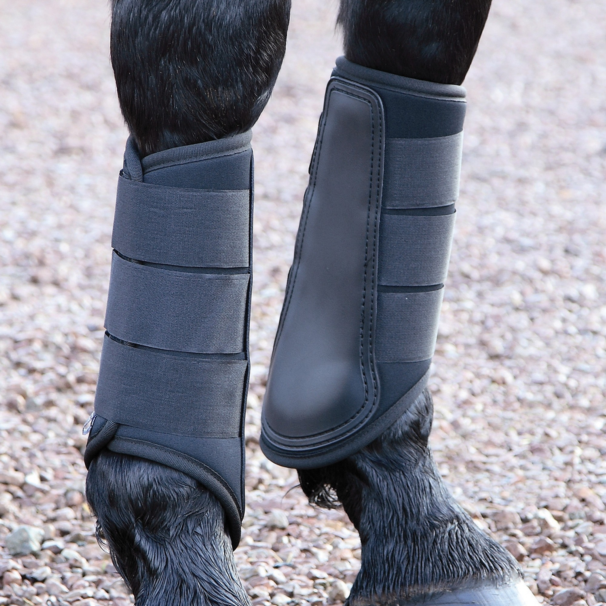 Shires ARMA Horse//Pony Padded Neoprene Brushing Boots /& Over Reach Boots SET
