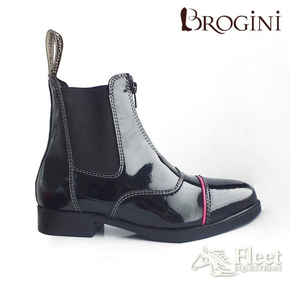 Brogini Paloma 444P Patent Leather Jodhpur Boots