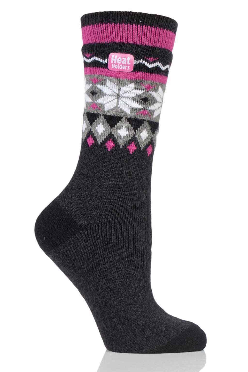 Heat Holders 1.6 Tog Lite Fairisle Socks Standard