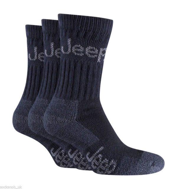 Jeep Terrain Boot Socks 3 Pack