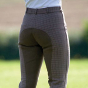 Bridleway Ladies Brown Check Breeches - FREE P&P