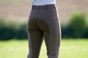 Bridleway Ladies Brown Check Breeches - FREE P&P
