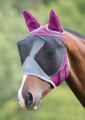 Shires Deluxe Fly Mask with Ears - Shires Deluxe Fly Mask with Ears 222983200830