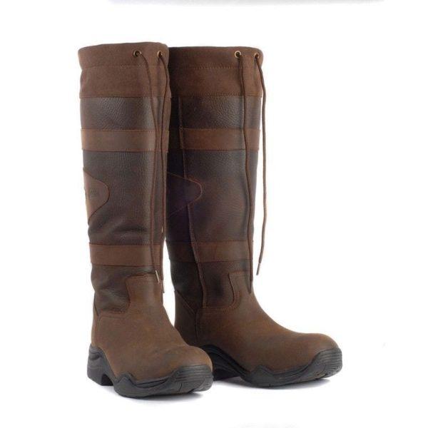 Toggi Canyon Leather Boot - Chocolate Standard Calf/Leg - Toggi Canyon Leather Boot Equestrian Country Choc Brown Standard Leg Fitting 321684574200 2
